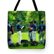 Waiting To Go To Bat Tote Bag by Susan Savad