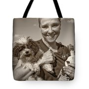 Walkies Sepia Tote Bag by Steve Harrington
