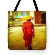 Walking In The Sun Tote Bag by Allan Rufus