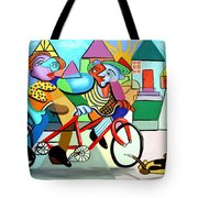 Walking The Dog Tote Bag by Anthony Falbo