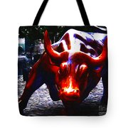 Wall Street Bull - Painterly Tote Bag by Wingsdomain Art and Photography