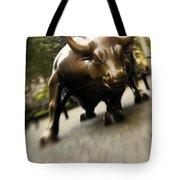 Wall Street Bull Tote Bag by Tony Cordoza
