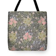 Wallpaper Design With Tulips Daisies And Honeysuckle  Tote Bag by William Morris