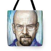 Walter White - Breaking Bad Tote Bag by Olga Shvartsur
