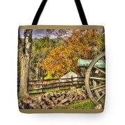 War Thunder - 3rd Massachusetts Light Artillery Battery C - J. Weikert Farm Autumn Gettysburg Tote Bag by Michael Mazaika