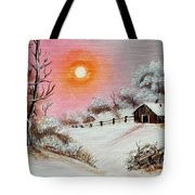 Warm Winter Day After Bob Ross Tote Bag by Barbara Griffin