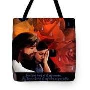 Washed In His Love Tote Bag by Jennifer Page