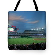 Washington Nationals In Our Nations Capitol Tote Bag by Thomas Marchessault