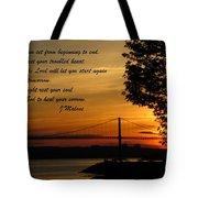 Watch The Sun Set Tote Bag by John Malone