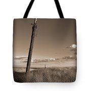 Watching Over The Sea King Tote Bag by Mark Miller