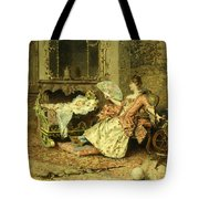 Watching The Baby  Tote Bag by Edouard Toudouze