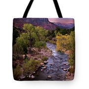 Watchman  Tower Zion Sunrise Tote Bag by Dave Dilli