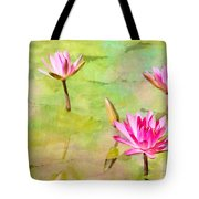 Water Lilies Inspired By Monet Tote Bag by Sabrina L Ryan