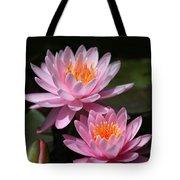 Water Lilies Love the Sun Tote Bag by Sabrina L Ryan