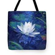 Water Lily Tote Bag by Ann Powell