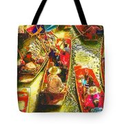 Water Market Tote Bag by Mo T