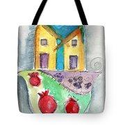 Watercolor Hamsa Tote Bag by Linda Woods