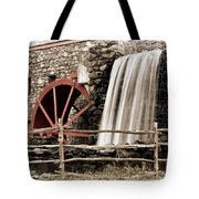 Waterfall At The Mill Tote Bag by Jayne Carney