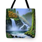 Waterfall Tote Bag by Jerry LoFaro
