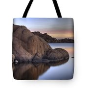 Watson Lake Arizona Colors Tote Bag by Dave Dilli