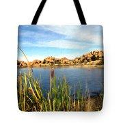 Watson Lake Arizona Tote Bag by Kurt Van Wagner