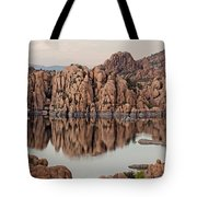 Watson Lake Tranquility Tote Bag by Angie Schutt