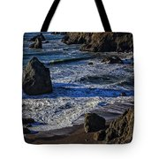 Wave Breaking On Rock Tote Bag by Garry Gay