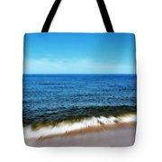 Waves In Motion Tote Bag by Michelle Calkins