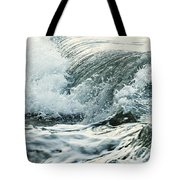 Waves In Stormy Ocean Tote Bag by Elena Elisseeva