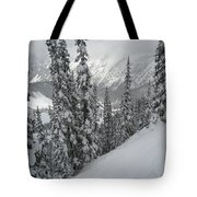 Way Up On The Mountain Tote Bag by Kym Backland