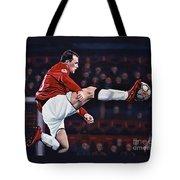 Wayne Rooney Tote Bag by Paul Meijering