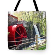 Wayside Inn Grist Mill Tote Bag by Barbara McDevitt