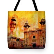Wazir Khan Mosque Tote Bag by Catf