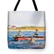 We Need A Biggah Boat Tote Bag by Jack Skinner