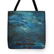 Weathering The Storm Tote Bag by Leslie Allen
