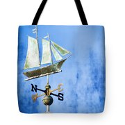 Weathervane Clipper Ship Tote Bag by Carol Leigh