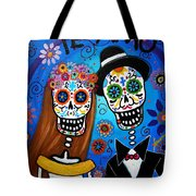 Wedding Couple  Tote Bag by Pristine Cartera Turkus