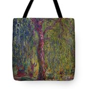 Weeping Willow Tote Bag by Claude Monet