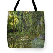 Weeping Willows The Waterlily Pond At Giverny Tote Bag by Claude Monet