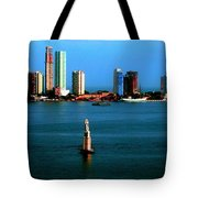 Welcome To Cartagena Colombia Tote Bag by Ann Johndro-Collins
