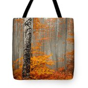 Welcome To Orange Forest Tote Bag by Evgeni Dinev