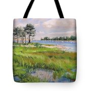 Wentworth By The Sea Tote Bag by Laura Lee Zanghetti