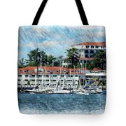 Wentworth By The Sea Tote Bag by Marcia Lee Jones