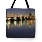 West Palm Beach At Night Tote Bag by Debra and Dave Vanderlaan