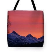 West Side Teton Sunrise Tote Bag by Raymond Salani III