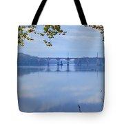 West Trenton Railroad Bridge Tote Bag by Bill Cannon