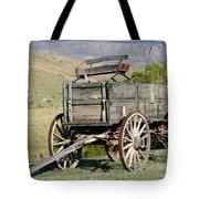 Western Wagon Tote Bag by Sabrina L Ryan