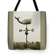 Whale Weathervane In Sepia Tote Bag by Ben and Raisa Gertsberg
