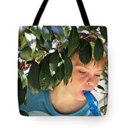 What Boys Are Made Of - Trees And Music Tote Bag by Ella Kaye Dickey