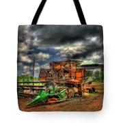 Wheat Field Fire 2 Tote Bag by Reid Callaway